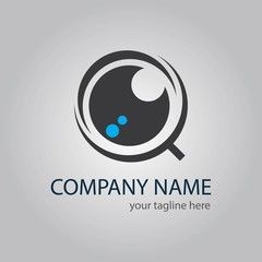 intelligent logo. eye logo