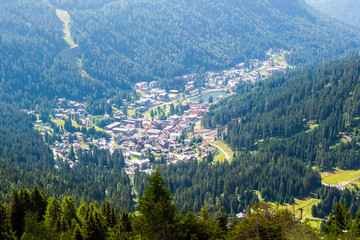 view of Madonna di Campiglio, a town in Trentino , Italy