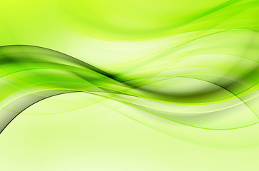 Green Wave Design Abstract Background