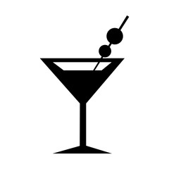 Martini Glass Icon. Silhouette vector illustration