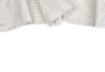 tablecloth on white background
