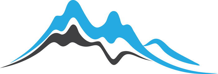 Mountains with Steep Peaks Logo