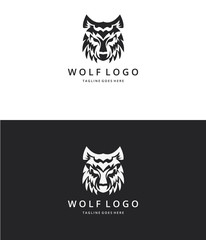 Wolf logo. Wolf head. Logo template suitable for businesses and product names. Easy to edit, change size, color and text.