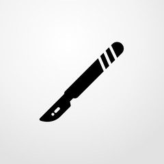 scalpel icon. Flat design