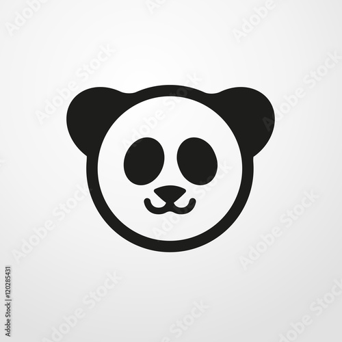 panda icon flat design fichier vectoriel libre de droits sur la banque d 39 images. Black Bedroom Furniture Sets. Home Design Ideas