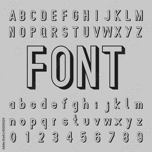 "Gray Alphabet Font: ""Create Alphabet Vector Font Design Black Font On A Gray"