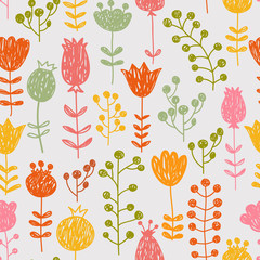 Seamless pattern made of flowers