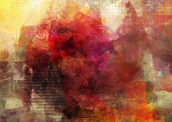 malerei texturen herbstfarben