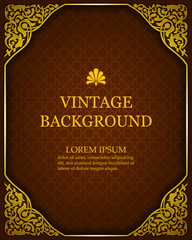 Vector vintage background in a luxurious royal style with oriental ornaments. Template to create invitations, greeting cards, covers.