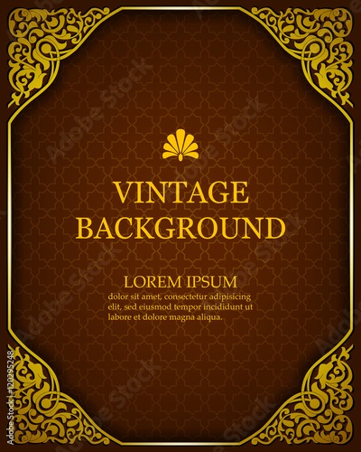 vector vintage background in a luxurious royal style with oriental