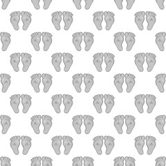 Babys feet seamless pattern on white background. Children design vector illustration