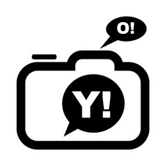 Photo camera icon in simple style on a white background vector illustration