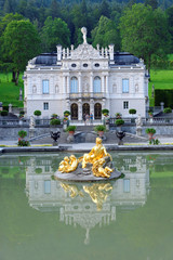 Linderhof Palace - the smallest of the three palaces built by King Ludwig II in Bavaria, Germany and the only one which he lived to see completed.