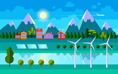 Green energy illustration.