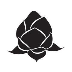 lotus icon isolated illustration