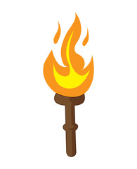 torch isolated illustration