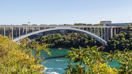 Wall Mural - Peace bridge between Niagara falls Canada and USA in summer, Ontario, Canada.