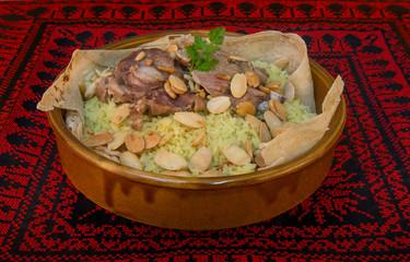Mansaf - traditional Jordanian food