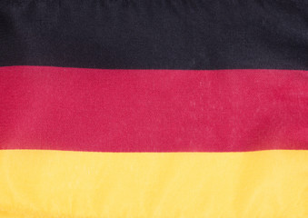 German flag made of cloth
