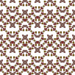 Mosaic seamless pattern. Vector Image. colors. For embroidery pattern.