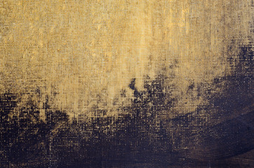 golden painted artistic canvas background