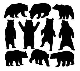 Bear Wildlife Silhouette, art vector design