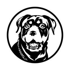 Rottweiler dog Logo