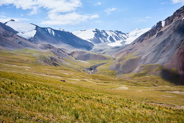 Mountain in Kichik-Alai Range in Kyrgyzstan