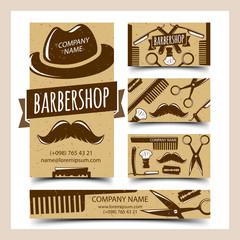 Barbershop cards set
