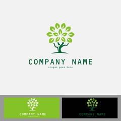 green tree vector logo