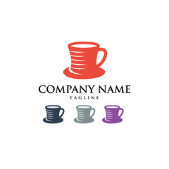 Coffee Chocolate Hot Drink Logo Icon Vector