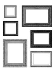 Picture frame isolated on white background