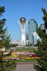 View of the BAITEREK tower in Astana, capital of Kazakhstan