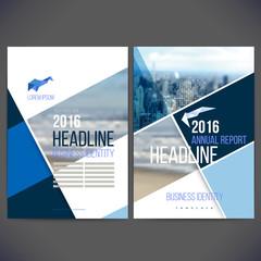 Vector template design annual report 2017