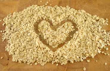 Oatmeal with heart.