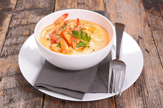 shrimp and spicy soup