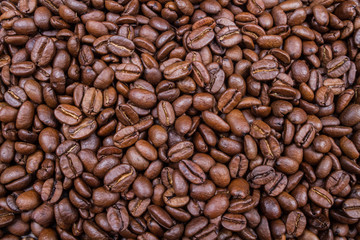 Roasted Brown Coffee Beans Aroma Background