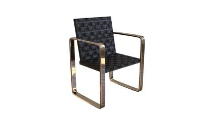 3D Illustration of modern chair