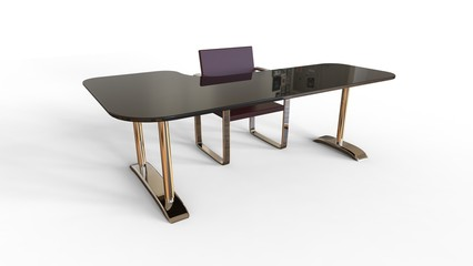 3D Illustration of Creative Office table