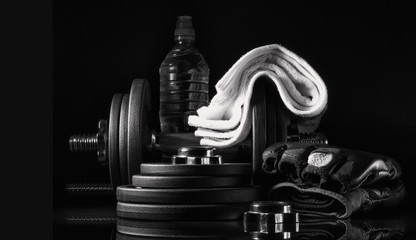 Equipment for strength training.
