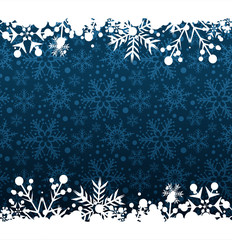 Snowflake pattern. Template for graphic design