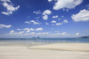Beach and tropical sea at andaman sea