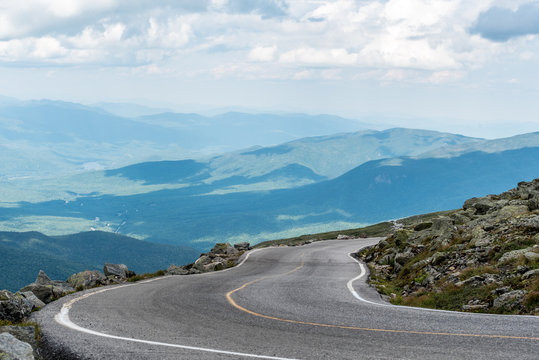View of the Mount Washington Highway in New Hampshire