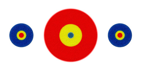 Target Red Yellow Blue - Background with Blank Copy Space for Text or Advertising