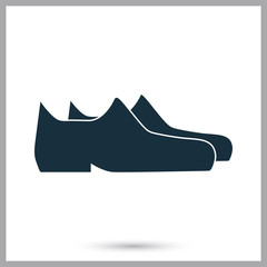 Male shoes pair icon