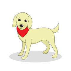 Labrador, cute dog. Cute white puppy. Isolated on white background. Vector illustration