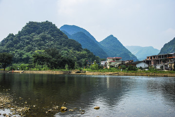River and mountains scenery