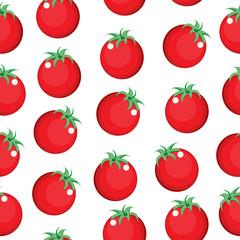 Tomato seamless pattern texture. Tomato background wallpaper. Vector illustration