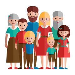 Big happy family,vector illustration.