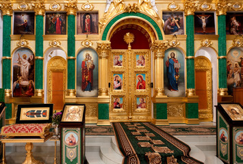 Russian orthodox church interior